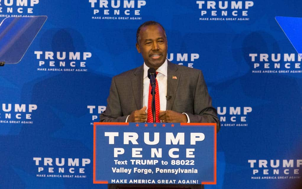 Ben Carson Defends Trump for Throwing out Obama's Housing Rules